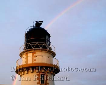Photograph of Lighthouse Rainbow from www.MilwaukeePhotos.com (C) Ian Pritchard