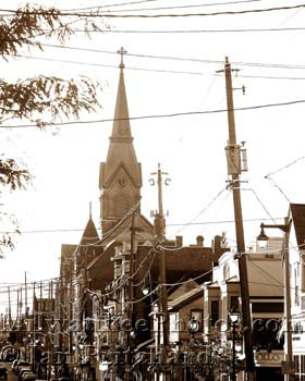 Photograph of St. Hedwig's in Sepia from www.MilwaukeePhotos.com (C) Ian Pritchard