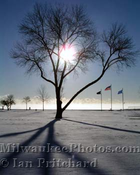 Photograph of Tree Shadows on Snow from www.MilwaukeePhotos.com (C) Ian Pritchard